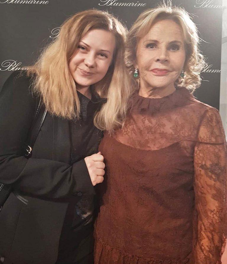 Анна Молинари основательница Blumarine, на неделе моды AW2018/19, Милан