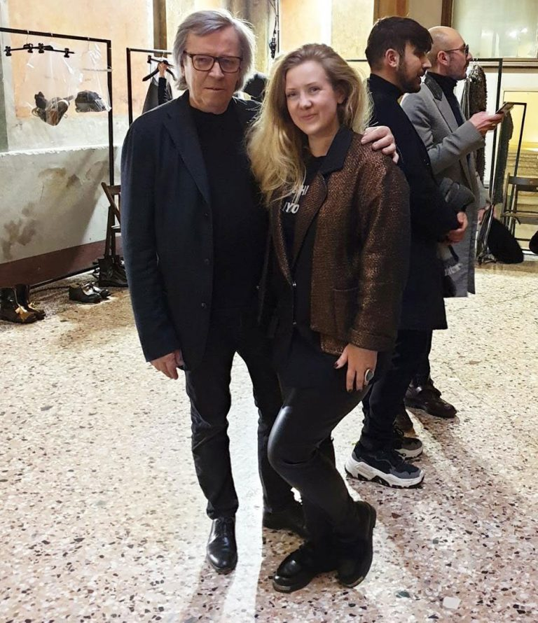 Пьеро Чивидини, создатель собственного бренда Cividini, на неделе мужской моды в Милане, SS2019