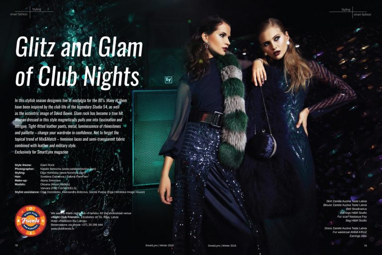Stailings: Glam Rock; Medijs: Inflight Smartlynx Magazine;