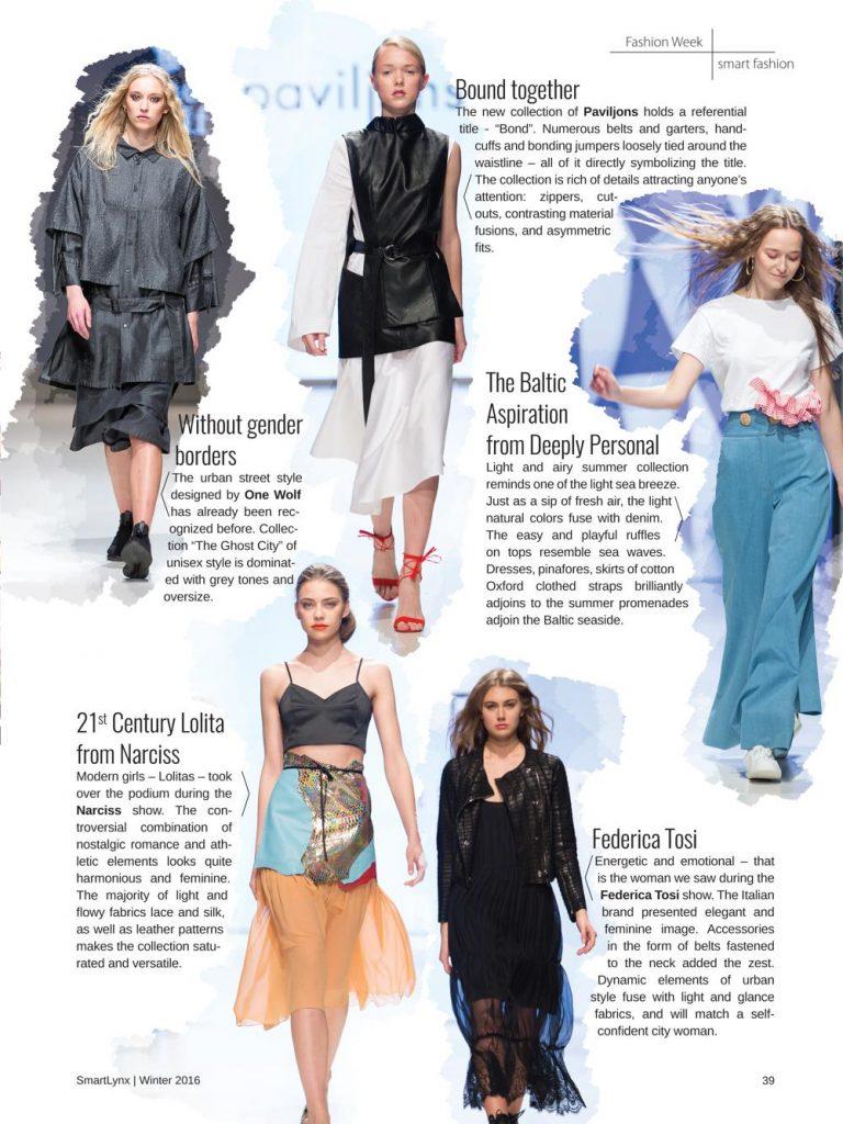 Rīgas modes nedēļas apskats; Medijs: Inflight Smartlynx Magazine;