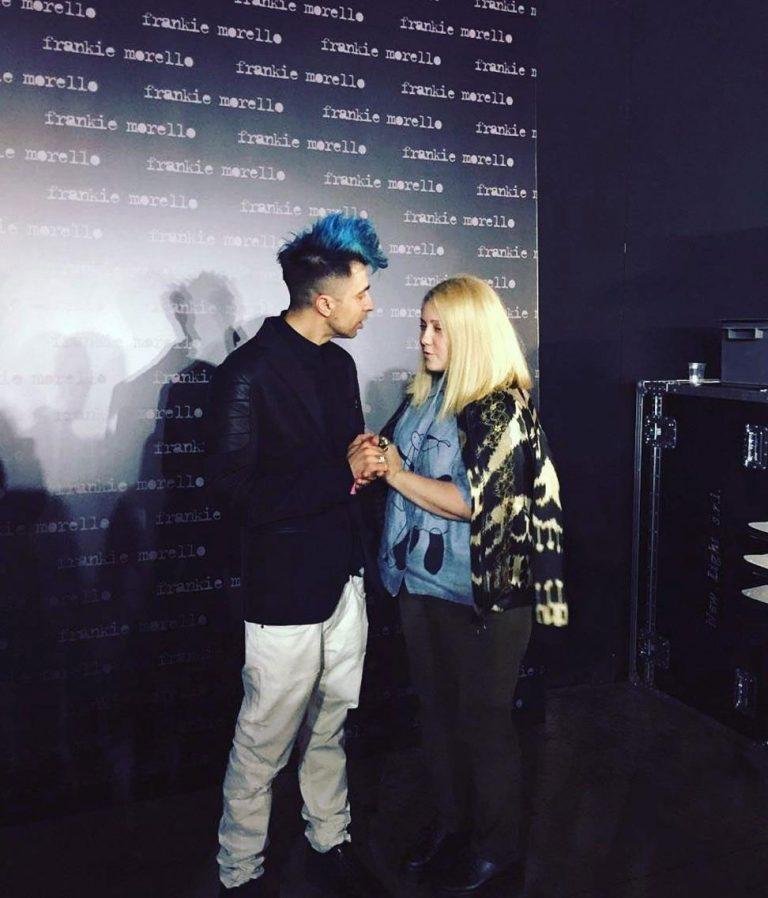 Frankie Morello dizainers Nicholas Poggioli. Backstage modes nedēļā Milānā, SS2018