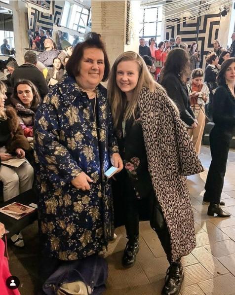 2020. februāris, modes nedēļa Milānā, tikšanās ar modes kritiķi Sjūzi Menkesu.